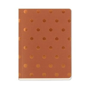 Notes A6 Go Stationery Polka Copper