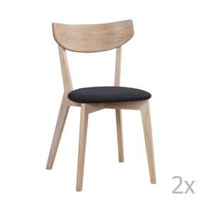 Zestaw 2 krzeseł z dekorem lakierowanego dębu Folke Ami Deby