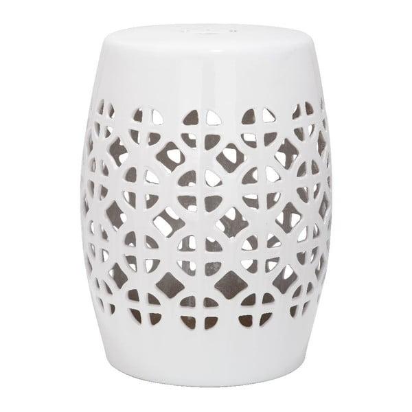 Biały stolik ceramiczny Safavieh Ravello