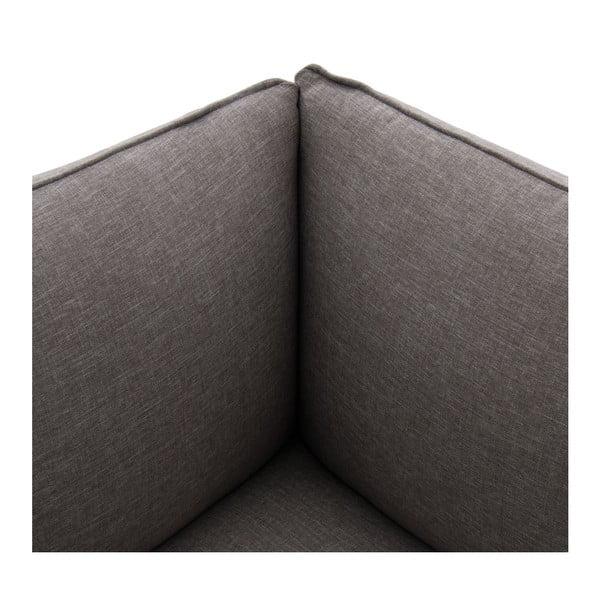 Szara dwuosobowa sofa modułowa Vivonita Cube