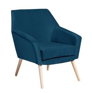 Niebieski fotel Max Winzer Alegro Suede