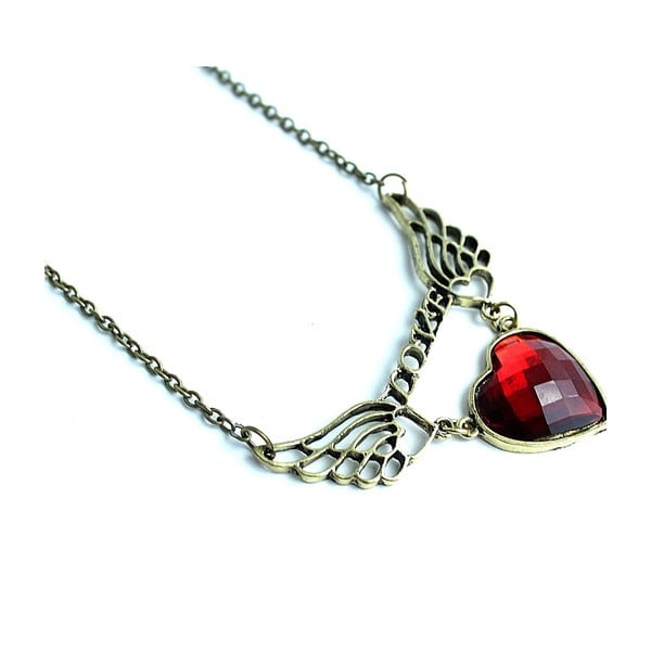 Naszyjnik Red Heart With Wings