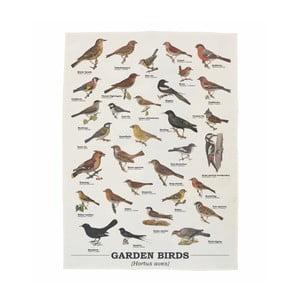 Ścierka bawełniana Gift Republic Garden Birds, 50 x 70 cm