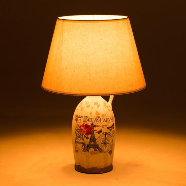Ceramiczna lampa stołowa Eiffel