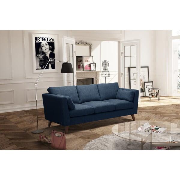 Szaroniebieska sofa trzyosobowa Jalouse Maison Elisa