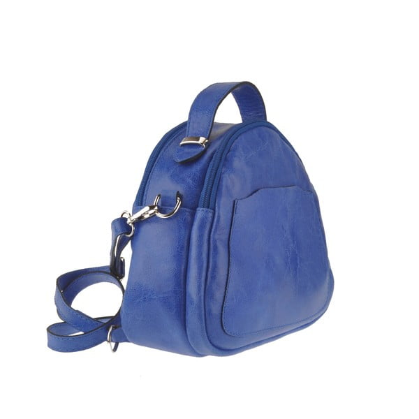 Niebieska torebka skórzana Men