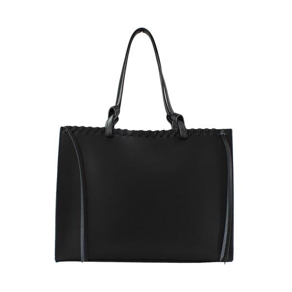 Skórzana torebka Linda, czarna