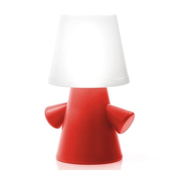 Solarna lampa ogrodowa Greenman, czerwona