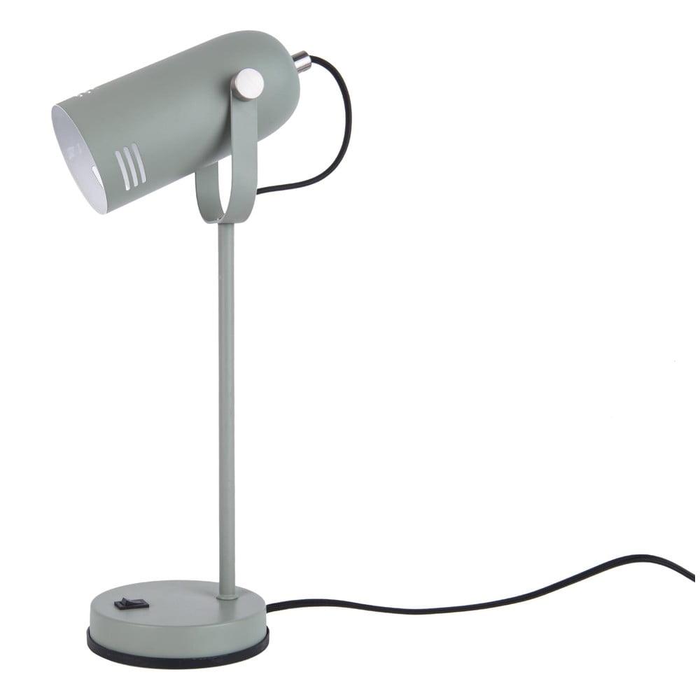 Szarozielona lampa stołowa Leitmotiv Husk