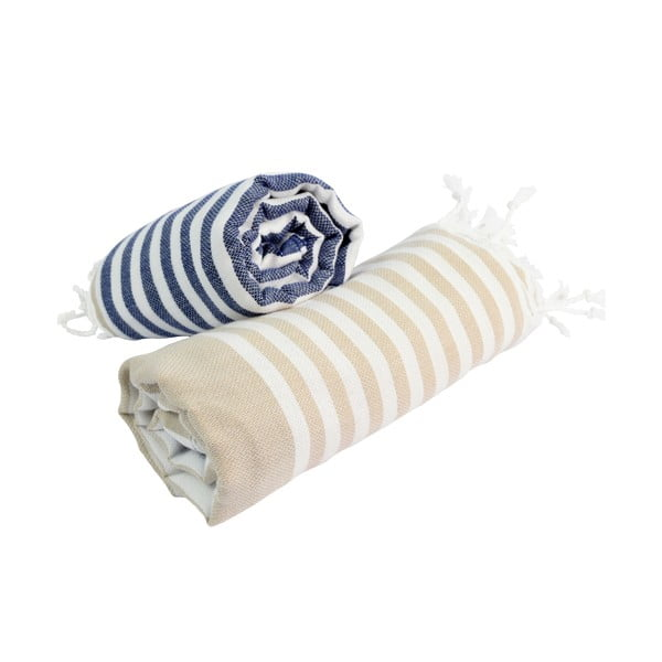 Zestaw 2 ręczników hammam HF Living Sunbeam