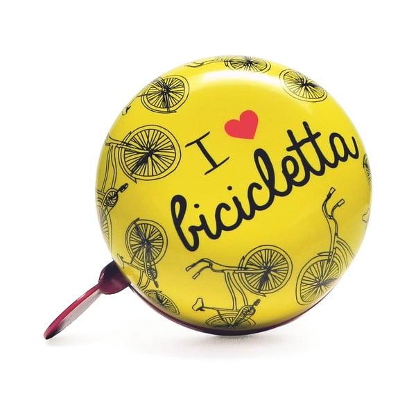 Dzwonek I ♥ Bicicleta, żółty