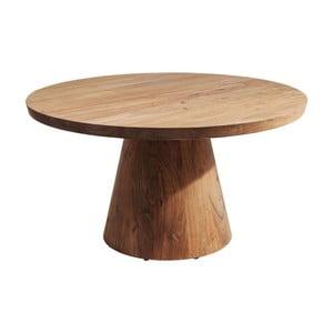 Stolik z regulowanym blatem z drewna akacjowego Kare Design Tornillo