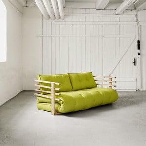 Sofa rozkładana dwuosobowa Karup Funk Natural/Pistacie