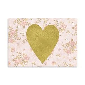 Plakat Americanflat Heart on Pink, 30x42 cm