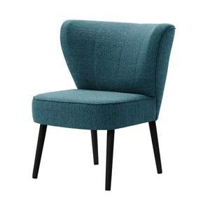Turkusowy fotel z czarnymi nogami My Pop Design Adami
