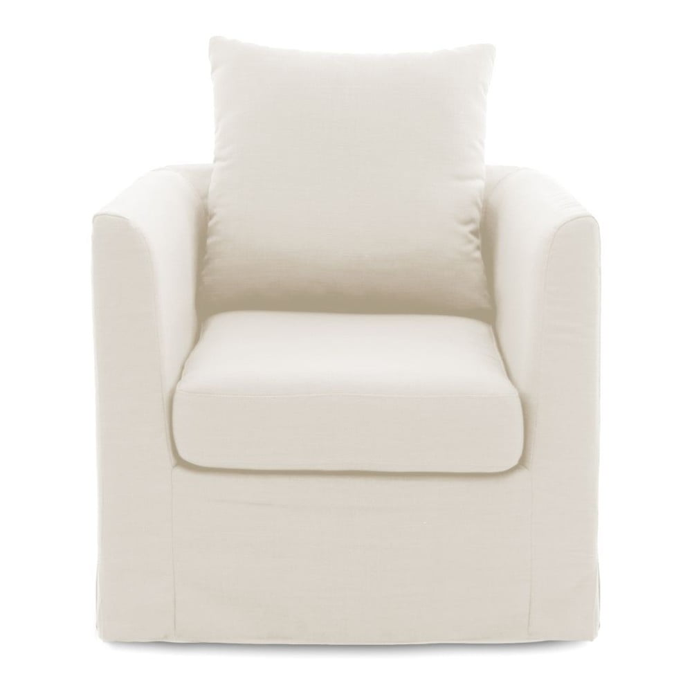 Kremowy fotel Vivonita Coraly