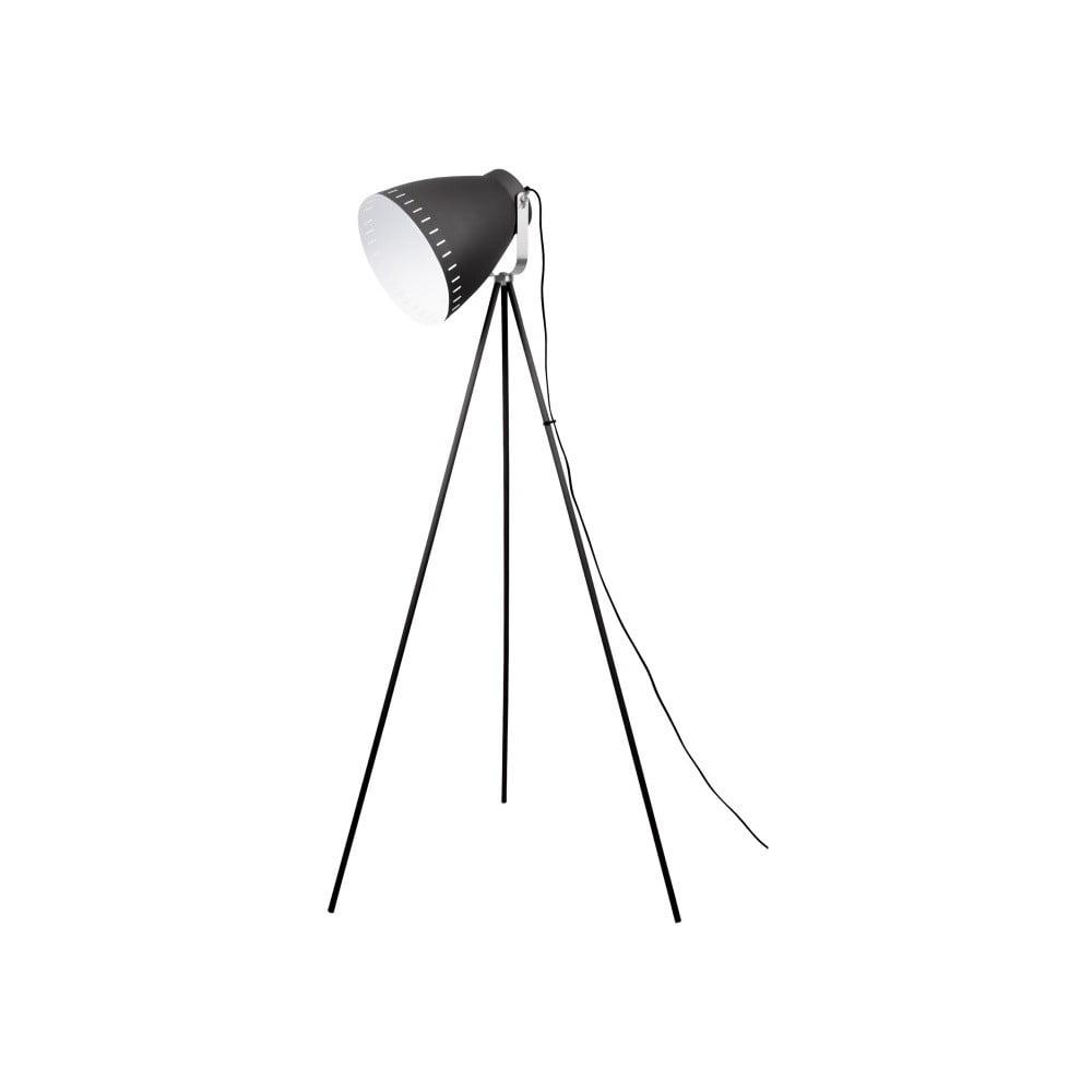 Czarna lampa podłogowa Leitmotiv Tristar