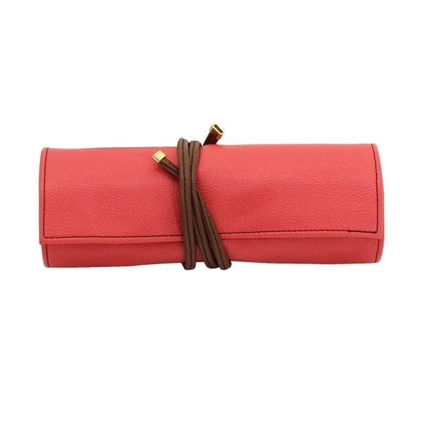 Etui na biżuterię Ascot Roll Coral Pink, 20x8x6 cm