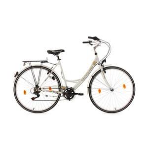 """Damski rower City Bike Golden Times White 53 cm, 28"""", wysokość ramy 53 cm"""