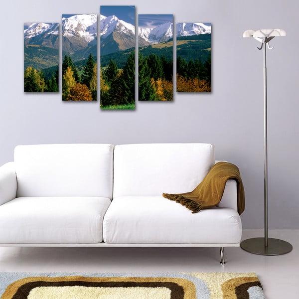 Pięcioczęściowy obraz Góry