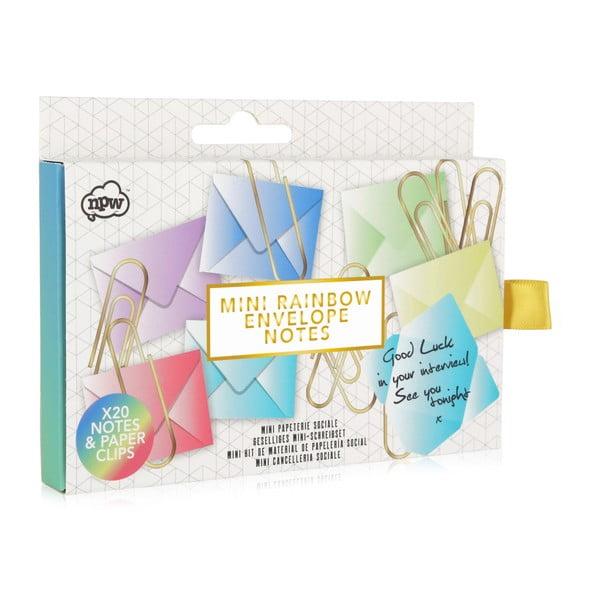 Zestaw 20 kopert i 20 spinaczy npw™ Rainbow