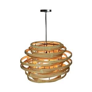 Rattanowa lampa wisząca Bluebone Twister,Ø52cm