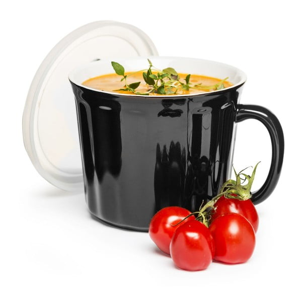 Czarny kubek  na zupę Sagaform 500 ml