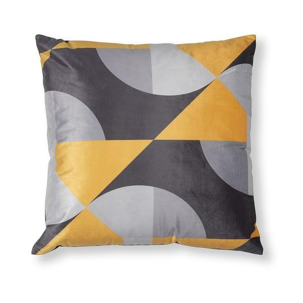Szaro-żółta poszewka na poduszkę La Forma Rise, 45x45 cm
