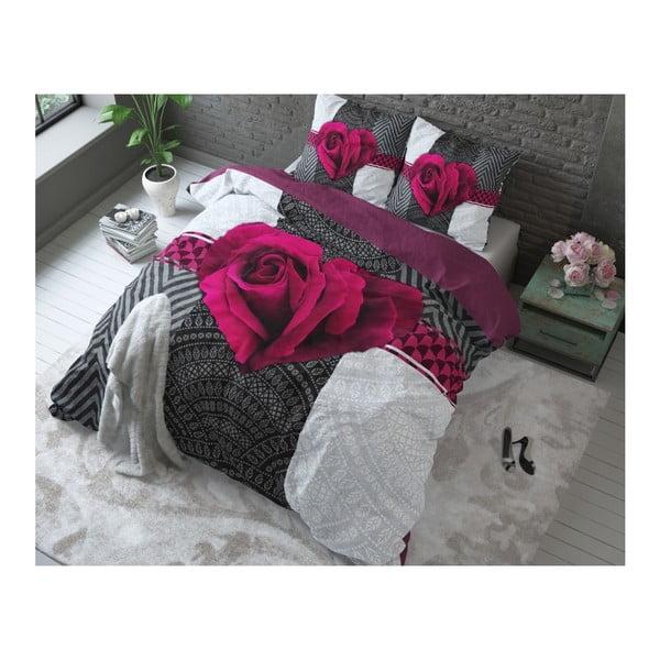 Różowa pościel bawełniana Dreamhouse Garden Rose, 240x200cm