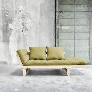 Sofa rozkładana Beat Natural/Avocado Green