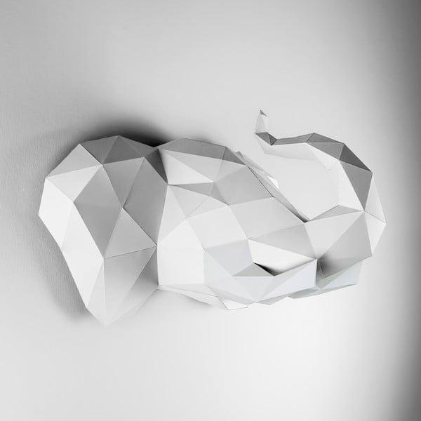 Papierowe poroże Słoń, białe