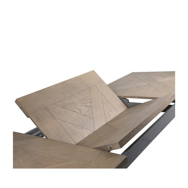 Szary stół rozkładany Canett Royal, 200 cm