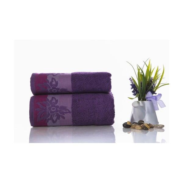 Zestaw 2 ręczników Papyrus V2, 50x90 cm + 70x140 cm