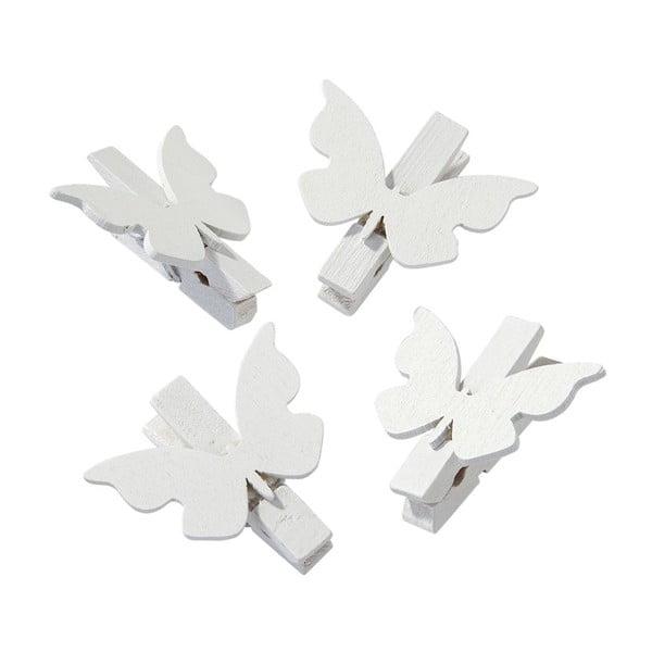 Komplet 20 klamerek White Butterfly