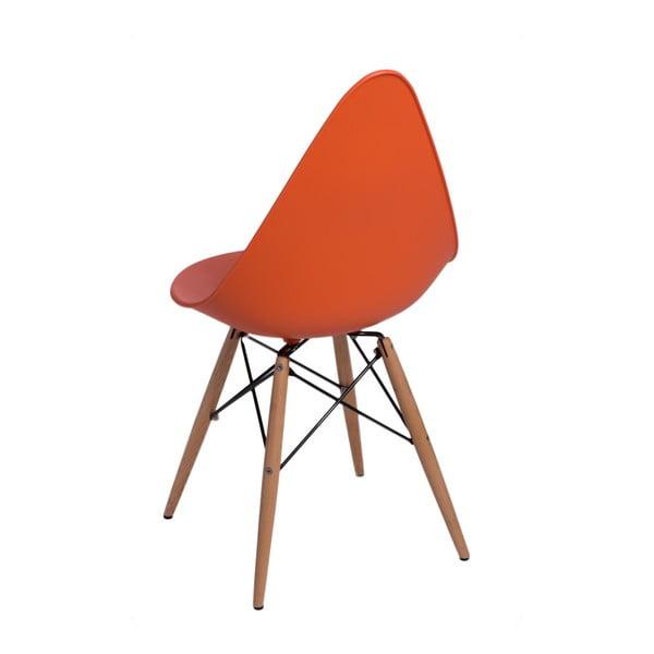Zestaw 2 pomarańczowych krzeseł D2 Rush DWS