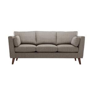 Orzechowa sofa trzyosobowa Jalouse Maison Elisa