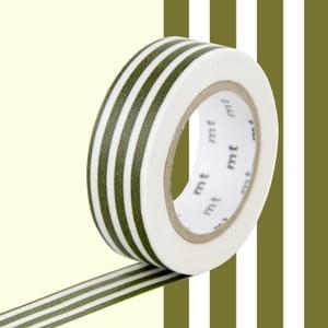 Biało-zielona taśma dekoracyjna washi MT Masking Tape Lignes