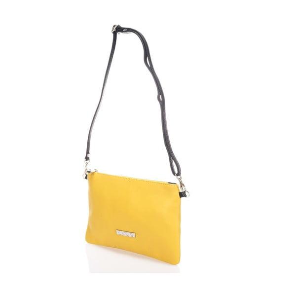 Skórzana torebka Krole Kody, żółta