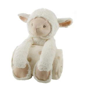 Owieczka pluszowa z kocem dziecięcym Biederlack