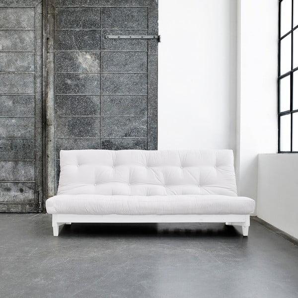 Sofa rozkładana Karup Fresh White/Natural
