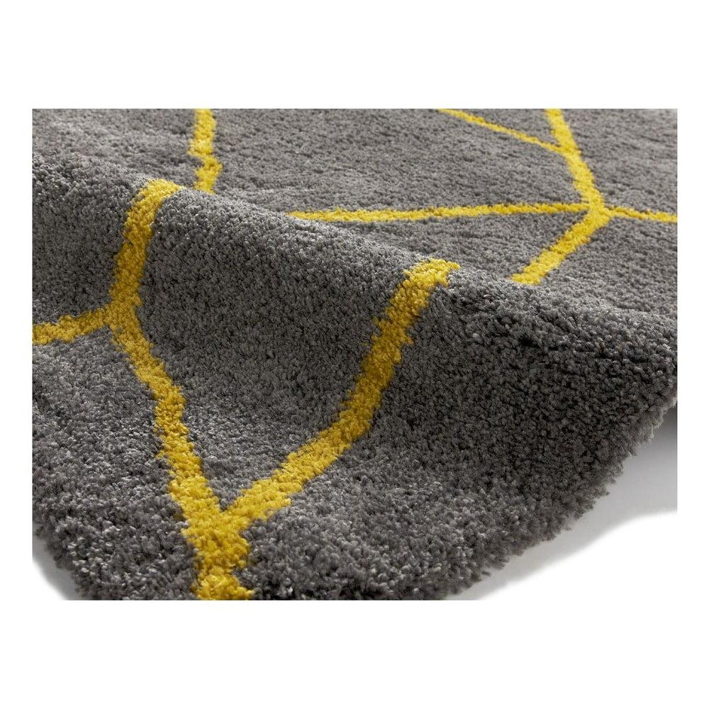 Szaro żółty Dywan Think Rugs Royal Nomadic Grey Yellow 120x170 Cm Bonami