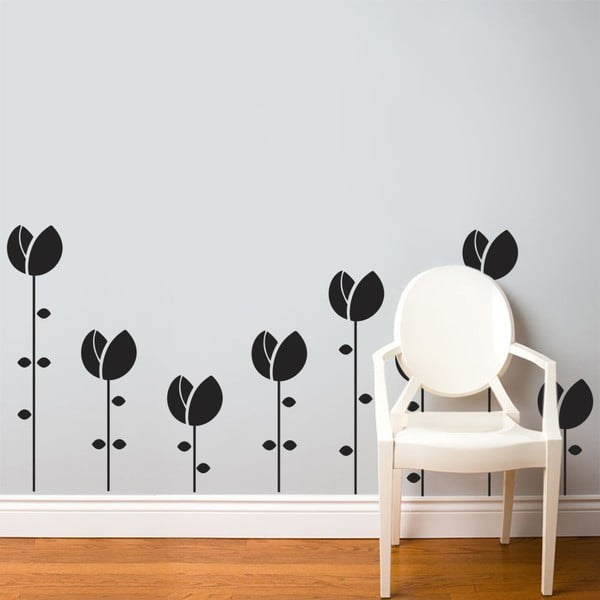 Naklejka Tulipany na grządce, 70x50 cm