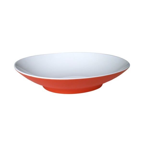Czerwony głęboki talerz Entity, 22,2 cm