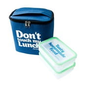 Torba na   lunch i dwa pojemniki Pack & Go Don't Touch My Lunch Blue