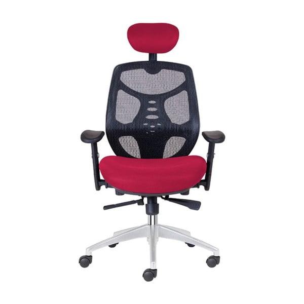 Krzesło biurowe Norton XL, ciemna czerwień