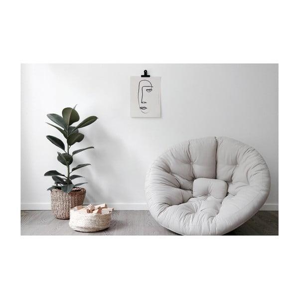 Rozkładany fotel z zielonym obiciem Karup Design Nido Olive Green