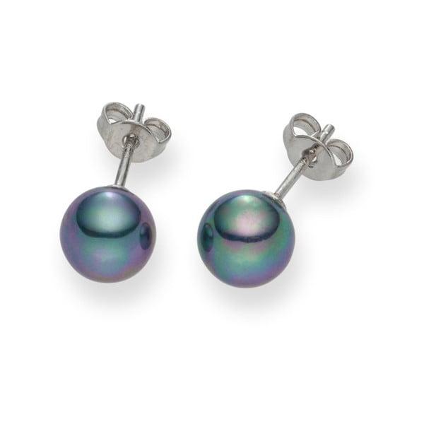 Antracytowe   perłowe kolczyki Pearls of London Mystic