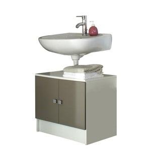 Szaro-brązowa szafka łazienkowa pod umywalkę Symbiosis André