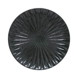 Czarna taca dekoracyjna A Simple Mess Alberte, 10,5 cm