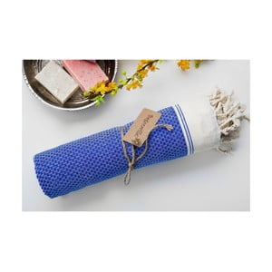 Ręcznik hamam Jacquard Blue, 100x180 cm